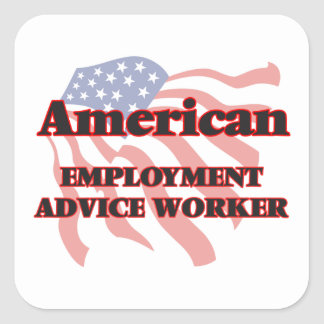 American Employment Advice Worker Square Sticker