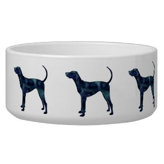 American English Coonhound Black Silhouette Pet Water Bowls