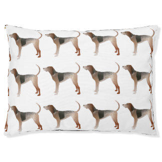 American English Coonhound Dog Silhouette Large Dog Bed