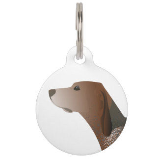 American English Coonhound Dog Silhouette Pet Tags