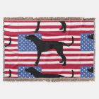 american english coonhound flag silo.png throw blanket