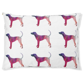 American English Coonhound Geometric Silhouette Pet Bed