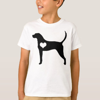 American English Coonhound Heart Kids T-Shirt