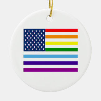 American Equality Ceramic Ornament