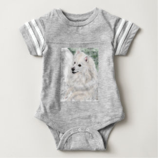 American Eskimo Baby Bodysuit