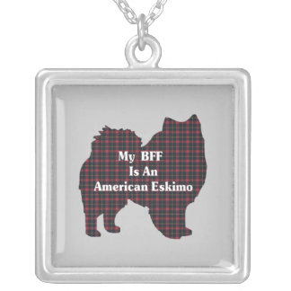 American Eskimo BFF Silver Plated Necklace