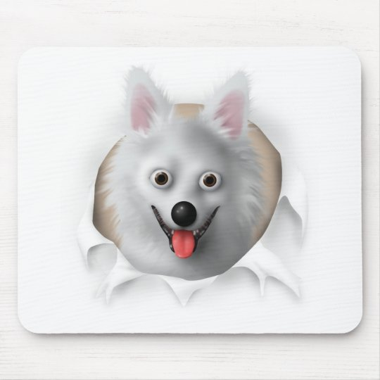 American Eskimo Busting Out Mouse Pad