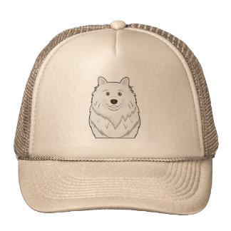 American Eskimo Cartoon Portrait Hats