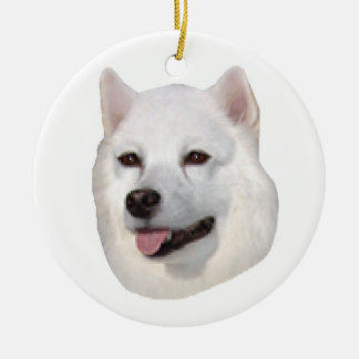 American Eskimo Ceramic Ornament
