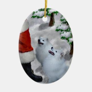 American Eskimo Christmas Gifts Ornament