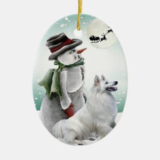 American Eskimo Christmas Ornament