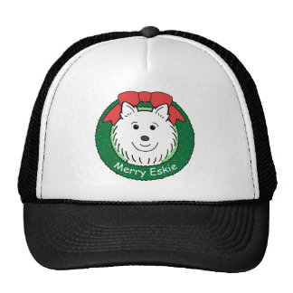American Eskimo Christmas Trucker Hat