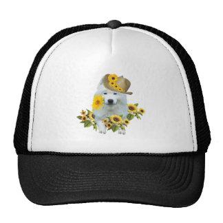 American Eskimo Daisy Trucker Hat