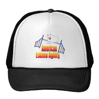 American Eskimo Dog Agility Trucker Hat
