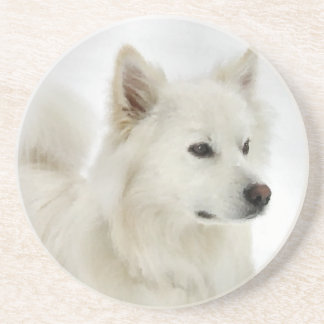 American Eskimo Dog Art Coaster
