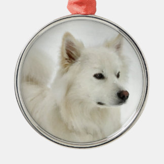 American Eskimo Dog Art Metal Ornament