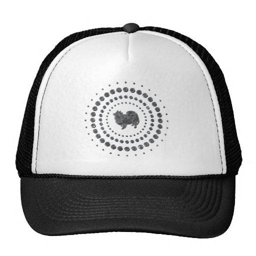 American Eskimo Dog Chrome Studs Hats