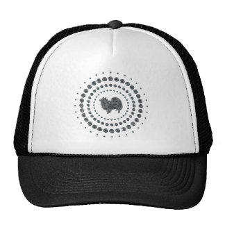 American Eskimo Dog Chrome Studs Trucker Hat