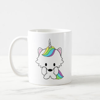 American Eskimo Dog Eskie Unicorn Coffee Mug