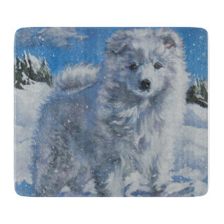 AMERICAN ESKIMO DOG Fine Art Painting Boards