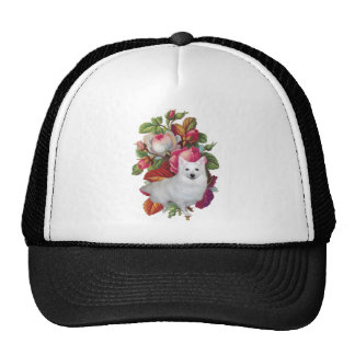 American Eskimo Dog Floral Trucker Hat