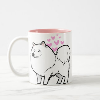 American Eskimo Dog / German Spitz Love Two-Tone Coffee Mug
