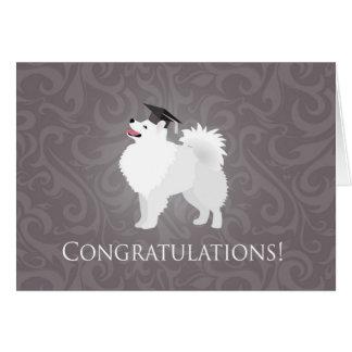 American Eskimo Dog Graduation Design Card