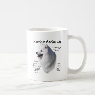 American Eskimo Dog History Design Coffee Mug
