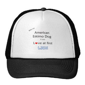 American Eskimo Dog Lick Design Trucker Hat