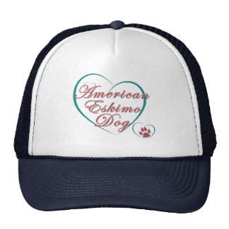 American Eskimo Dog Love Mesh Hats