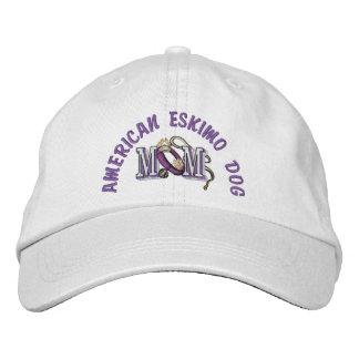 American Eskimo Dog Mom Embroidered Baseball Caps
