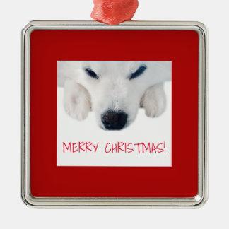 American Eskimo Dog Ornament / Spitz Dog Ornament
