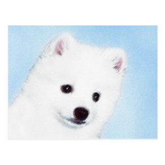 American Eskimo Dog Painting - Original Dog Art Postcard