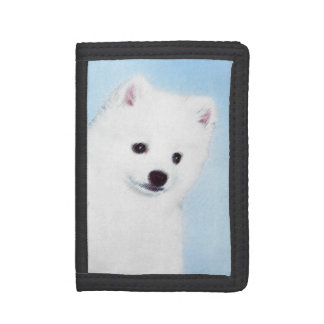 American Eskimo Dog Painting - Original Dog Art Trifold Wallet