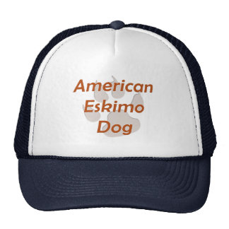American Eskimo Dog Paw Trucker Hat