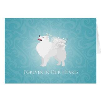 American Eskimo Dog Pet Loss Sympathy Design Card