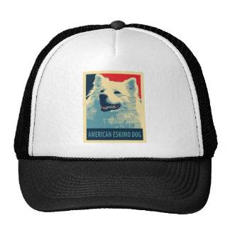 American Eskimo Dog Political Hope Parody Trucker Hat