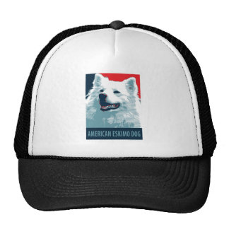 American Eskimo Dog Political Hope Parody Trucker Hat