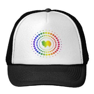 American Eskimo Dog Rainbow Studs Trucker Hat