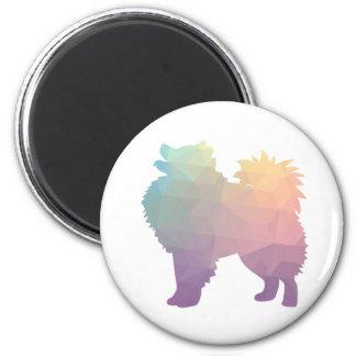 American Eskimo Dog Silhouette Designs Magnet