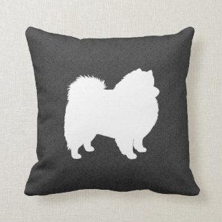 American Eskimo Dog Silhouette Throw Pillow