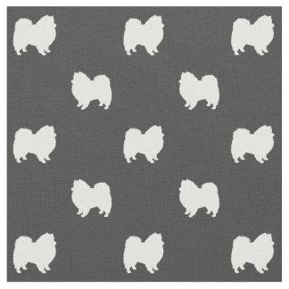 American Eskimo Dog Silhouettes Pattern Fabric