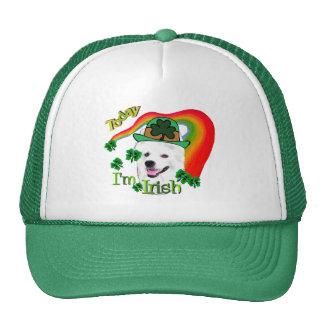 American Eskimo Dog St Patricks Trucker Hat