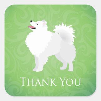 American Eskimo Dog - Thank You Stickers