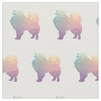 American Eskimo Dog Tiled Fabric