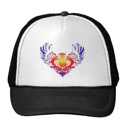 American Eskimo Dog Winged Heart Mesh Hat