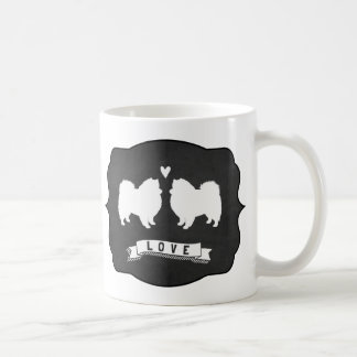 American Eskimo Dogs Love Coffee Mug