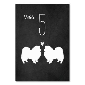 American Eskimo Dogs Wedding Table Card