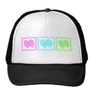 American Eskimo Eskie Squares Trucker Hat