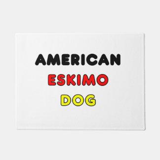 american eskimo flag in name doormat